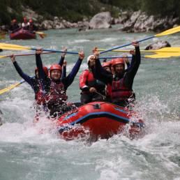 Rafting auf dem Soča River in Slowenien
