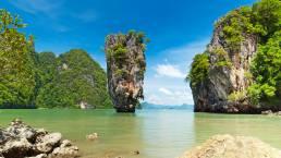 Der James-Bond-Felsen in Thailand