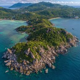 Die Taucherregion Chumphon Pinnacle nördlich von Koh Tao in Thailand