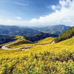 Die Region in Mae Hong Son ist bekannt für ihre Weiten
