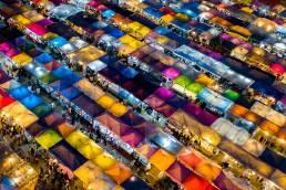 Night Market in Thailand ist sehr beliebt bei Gourmet Freunden