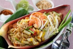 Thailändisches Essen wird oft in einem Wok zubereitet